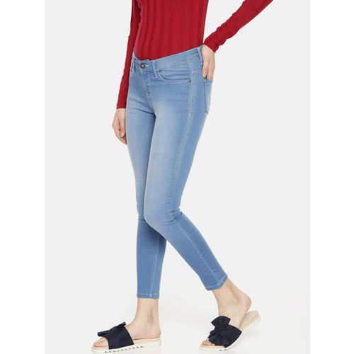 Jealous 21 Women Blue Super Skinny Fit Mid-Rise Clean Look Stretchable Ankle Length Jeans