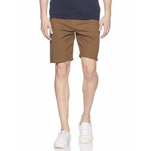 Amazon Brand - Symbol Grey Cotton Solid Shorts