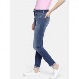 Calvin Klein Jeans Women Blue Skinny Fit Mid-Rise Mildly Distressed Stretchable Jeans