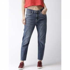 Levis Women Blue Tapered Fit High-Rise Clean Look Stretchable Jeans