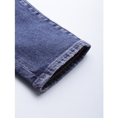 Levis Women Blue Skinny Fit Mid-Rise Mildly Distressed Stretchable Jeans 711