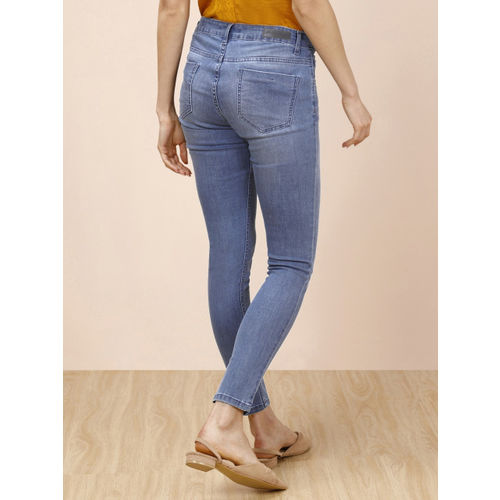 all about you Women Blue Skinny Fit Mid-Rise Clean Look Stretchable Jeans