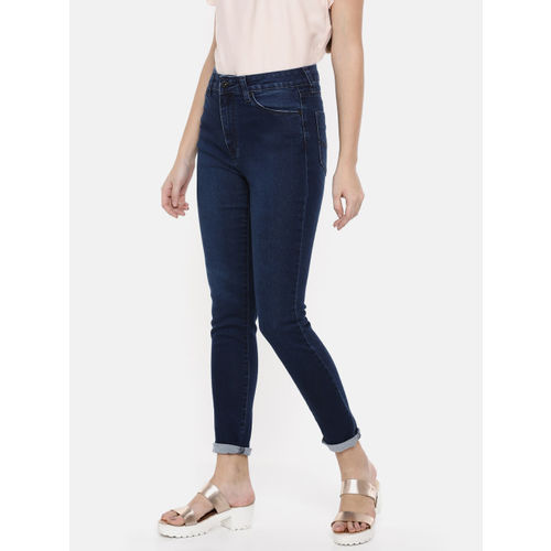 Pepe Jeans Women Blue Dion Skinny Fit High-Rise Clean Look Stretchable Jeans