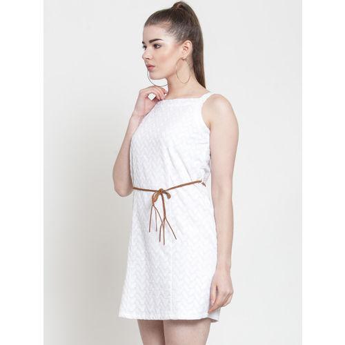 Latin Quarters Women White Sheath Dress