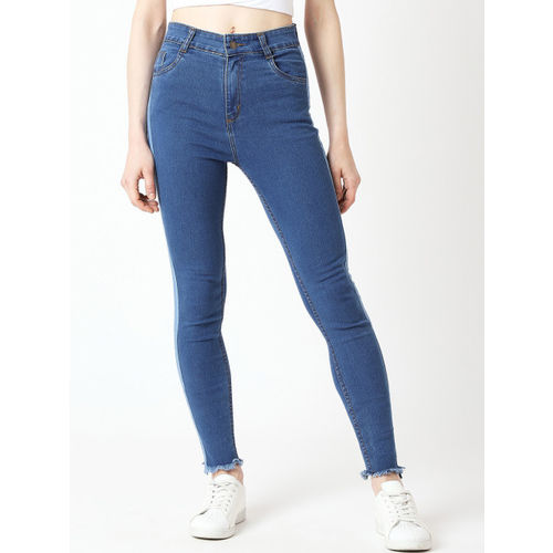 Miss Chase Women Blue Skinny Fit High-Rise Clean Look Jeans