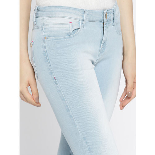 Jealous 21 Women Blue Hottie Ultra Slim Fit Mid-Rise Clean Look Stretchable Jeans