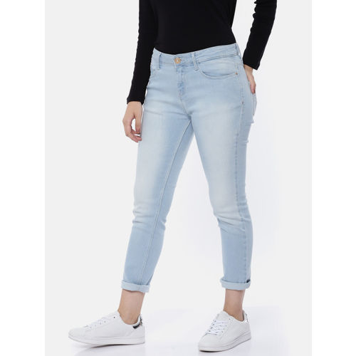 Jealous 21 Women Blue Skinny Fit Mid-Rise Clean Look Stretchable Hourglass Jeans