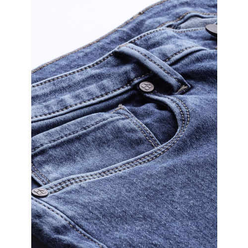 HERE&NOW Women Blue Skinny Fit Mid-Rise Clean Look Stretchable Ankle-Length Jeans