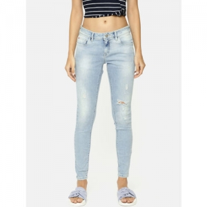 Lee Cooper Women Blue Skinny Fit Low-Rise Mildly Distressed Stretchable Jeans