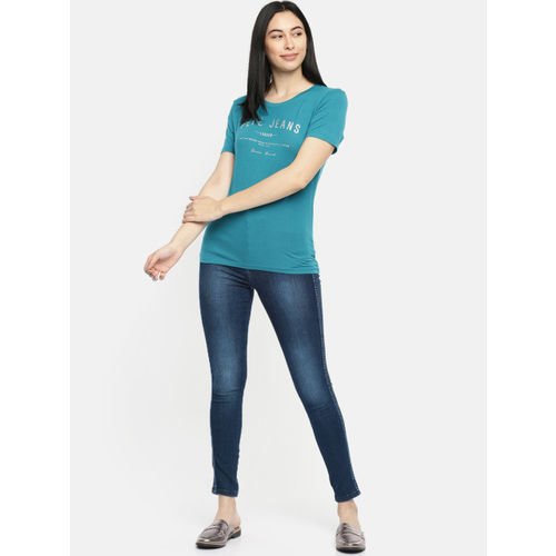 Pepe Jeans Women Blue Skinny Fit High-Rise Clean Look Stretchable Jeans