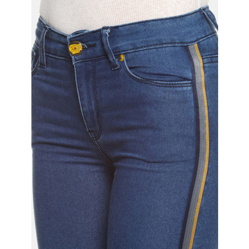 Campus Sutra Women Blue Slim Fit Mid-Rise Clean Look Stretchable Jeans