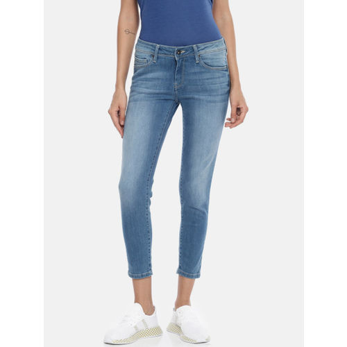 Buy Pepe Jeans Women Blue Lola Rosa Slim Fit Mid Rise Clean