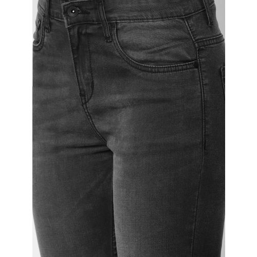 ether Women Black Regular Fit Mid-Rise Clean Look Stretchable Jeans