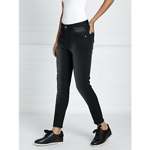 all about you from Deepika Padukone Women Black Skinny Fit Stretchable Jeans