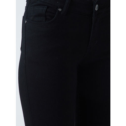 Devis Women Black Skinny Fit Mid-Rise Clean Look Stretchable Jeans