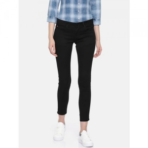 Lee Cooper Women Black Skinny Fit Low-Rise Clean Look Stretchable Jeans
