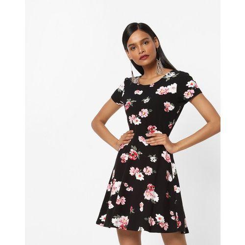 TALLY WEiJL Floral Print Skater Dress