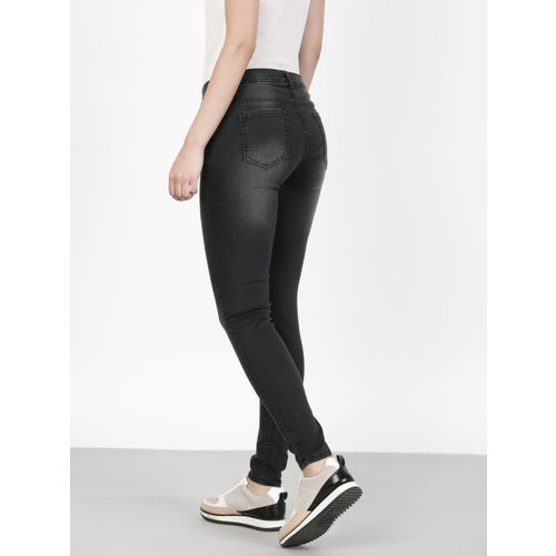 ether Women Black Skinny Fit Mid-Rise Clean Look Stretchable Jeans
