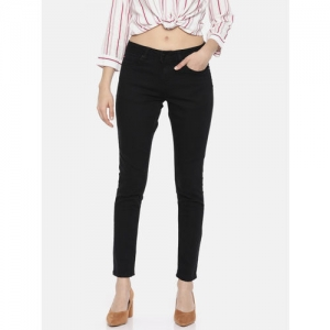 Lee Cooper Women Black Annie Slim Fit Mid-Rise Clean Look Stretchable Jeans