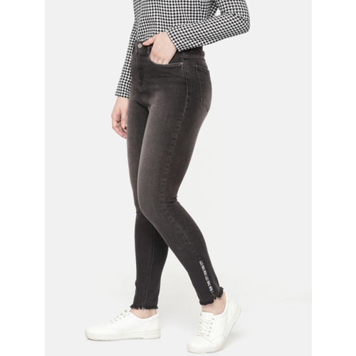 SPYKAR Women Black Alexa Super Skinny Fit High-Rise Clean Look Stretchable Ankle Jeans