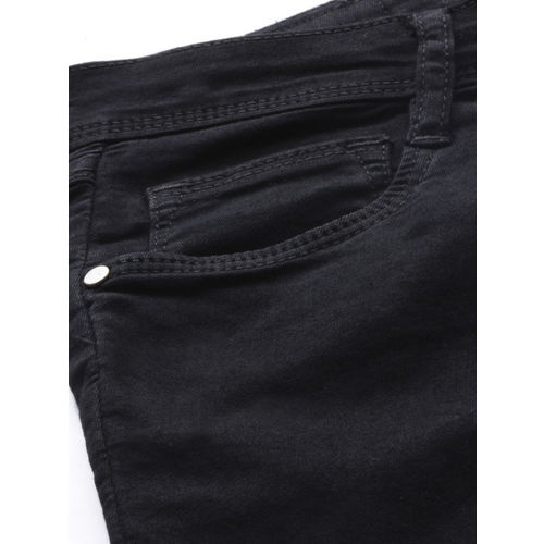 Kraus Jeans Women Black Skinny Fit Mid-Rise Clean Look Stretchable Jeans