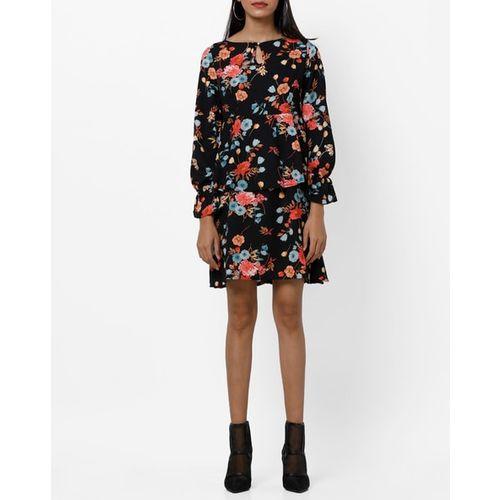 RIO Floral Print Layered A-line Dress