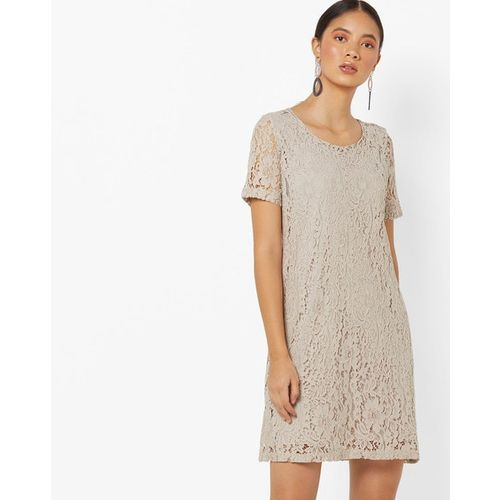 Buy Project Eve Western Wear Shift Lace Dress With Sheer