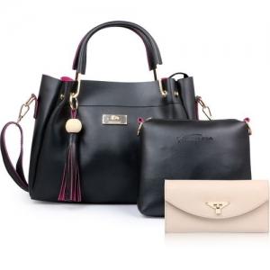 Shining Star ST-004B CLUTCH Black Hand-held Bag