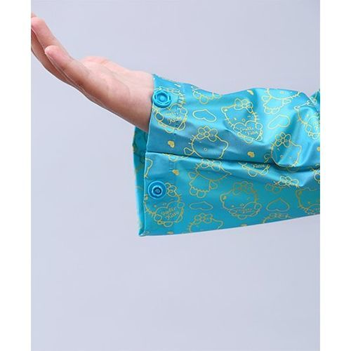 Babyhug Raincoats Hello Kitty Print - Aqua Blue