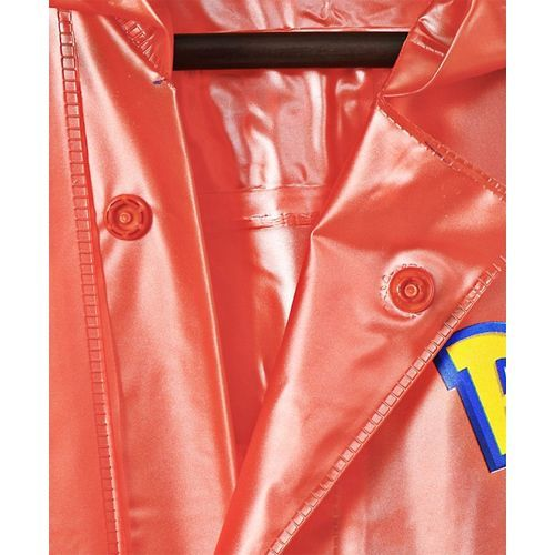 Babyhug Full Sleeves Hooded Raincoat Pokemon Print - Orange