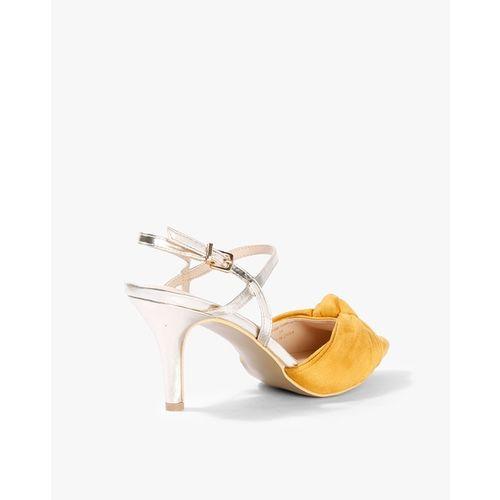 AJIO Pointed-Toe Stilettos with Buckle Closure