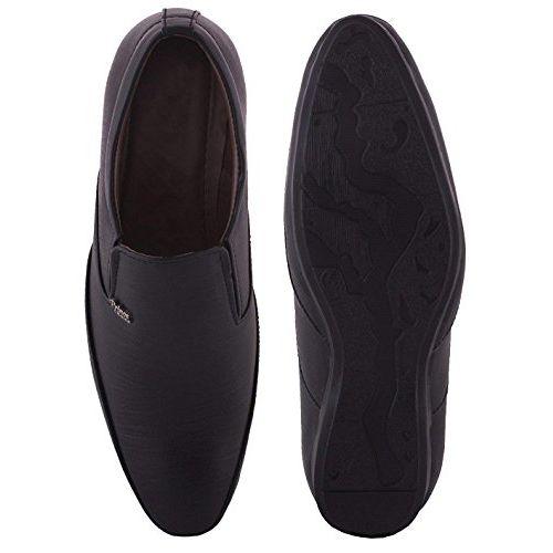 Walkshoe Men's Synthetic Leather Slip-On Shoes Fashion World Men's Faux Leather Formal Shoes Black Synthetic Leather Formal Slip on Office, College Shoes for Men & Boys