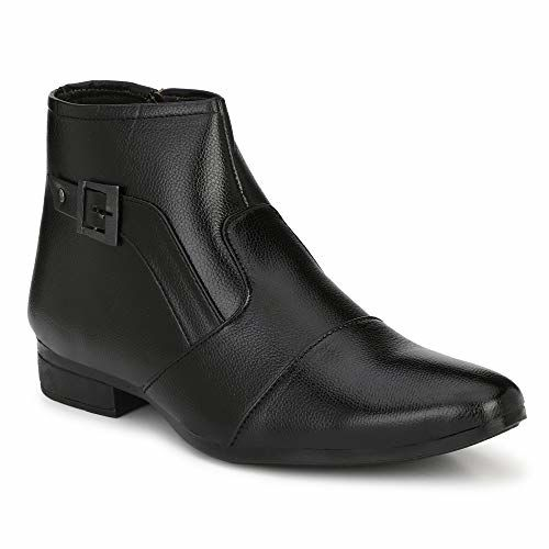 Runway Shoe ANDI Men's Synthetic Leather High Ankle Boots