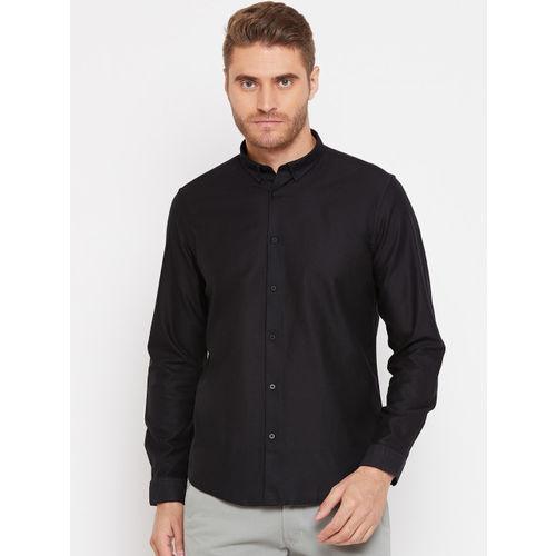 Blackberrys Men Black Slim Fit Solid Smart Casual Shirt