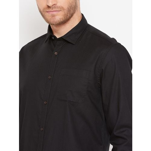 Blackberrys Men Black Slim Fit Solid Casual Shirt