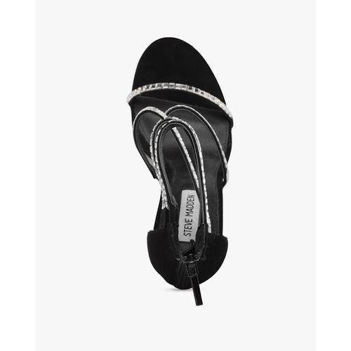 STEVE MADDEN Bringit Embellished Multistrapped Stilettos
