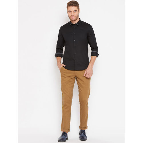 Blackberrys Men Black Smart Regular Fit Solid Casual Shirt