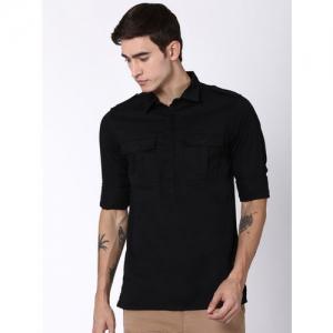 Blue Saint Men Black Solid Shirt