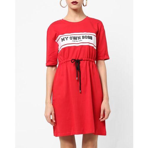 RIO Typographic Print A-line Dress