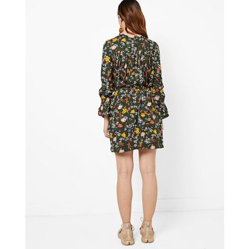 RIO Floral Print Belted Dress