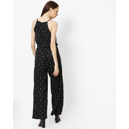 U.S. Polo Assn. Strappy Printed Jumpsuit with Slant Pockets