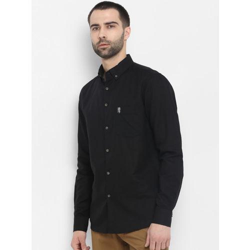 Red Tape Men Black Regular Fit Solid Casual Shirt