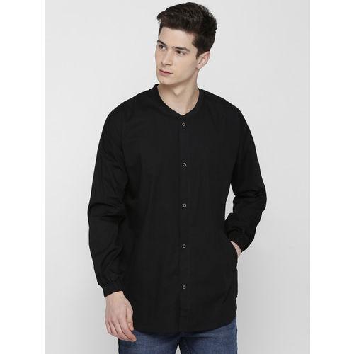 SKULT by Shahid Kapoor Men Black Regular Fit Solid Casual Shirt