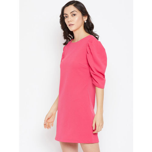 Imfashini Women Pink Sheath Dress