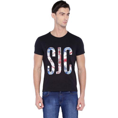 Allen Solly Applique Men Round or Crew Black T-Shirt
