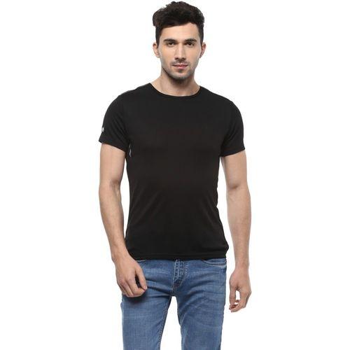 Allen Solly Solid Men Round or Crew Black T-Shirt