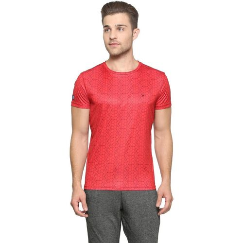 Allen Solly Geometric Print Men Round or Crew Red T-Shirt