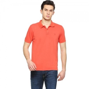 Allen Solly Solid Men Polo Neck Red T-Shirt