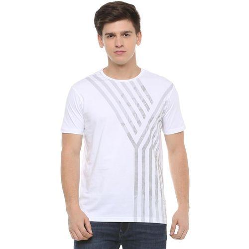 Allen Solly Printed Men Round Neck White T-Shirt