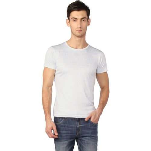 Allen Solly Printed Men Round or Crew White T-Shirt